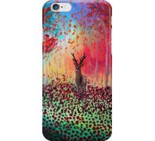 Deer in a poppy field  iPhone Case/Skin