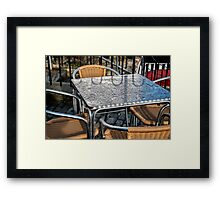 Empty Tables Framed Print