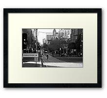 Swanston Street Melbourne Framed Print