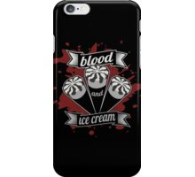 Blood & Ice Cream - Silver Variant iPhone Case/Skin