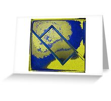Abstract Rectangle In Yellow Greeting Card
