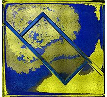 Abstract Rectangle In Yellow Photographic Print