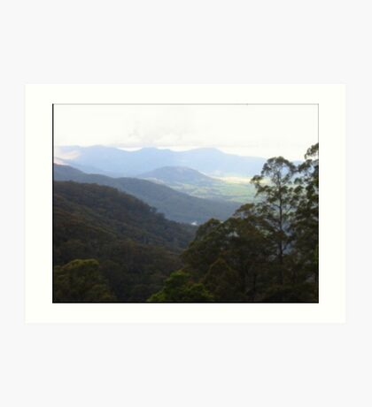 Valley In NSW Art Print