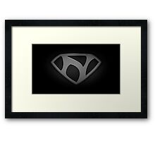 "The Letter N in the Style of ""Man of Steel"" Framed Print"