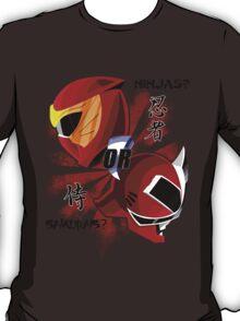 Power Rangers: Samurais or Ninjas? T-Shirt