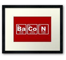 Bacon - Periodic Table Framed Print