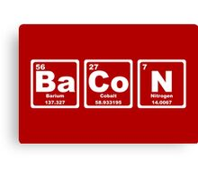 Bacon - Periodic Table Canvas Print