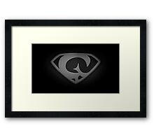 "The Letter G in the Style of ""Man of Steel"" Framed Print"