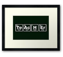 Teacher - Periodic Table Framed Print