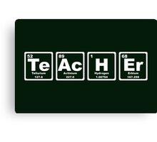 Teacher - Periodic Table Canvas Print