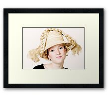 Blond girl Framed Print