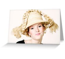 Blond girl Greeting Card