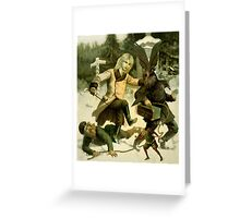 The Poacher. Greeting Card