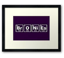 Bronies - Periodic Table Framed Print