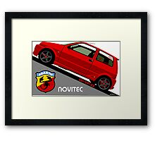 Fiat Cinquecento Sporting - personalized illustration Framed Print