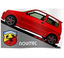Fiat Cinquecento Sporting - personalized illustration Poster