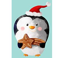 Cute Christmas Penguin Photographic Print
