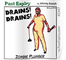 Cartoon : Zombie Plumber Poster