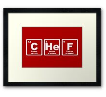 Chef - Periodic Table Framed Print