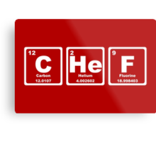 Chef - Periodic Table Metal Print