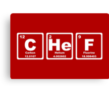 Chef - Periodic Table Canvas Print