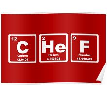 Chef - Periodic Table Poster