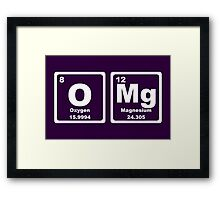 OMG - Periodic Table Framed Print