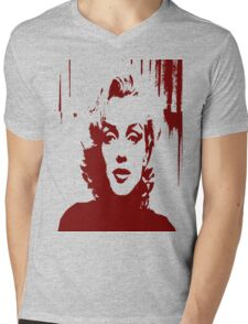 Sadness of Marilyn Monroe Mens V-Neck T-Shirt