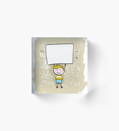 Designers shop offer : hand-drawn Doodle character Acrylic Block