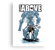From Above Comic Canvas Print