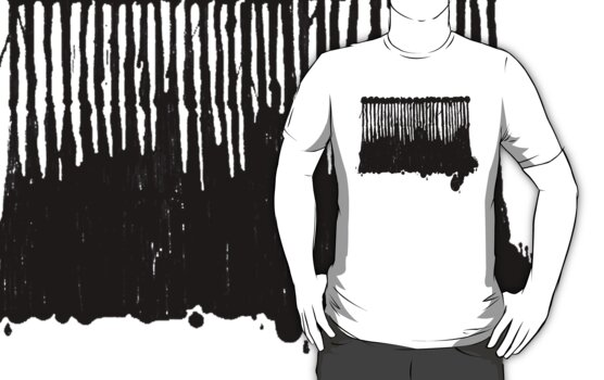 LINEart T-shirt : Black Ink by LINEart