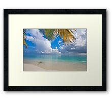 Postcard Perfection. Maldives Framed Print