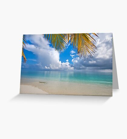 Postcard Perfection. Maldives Greeting Card