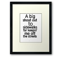 Humor Shirt Framed Print