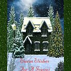 Warm Wishes for a Joyous Christmas Season Card by Vickie Emms