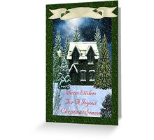 Warm Wishes for a Joyous Christmas Season Card Greeting Card