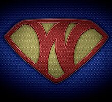 "The Letter W in the Style of ""Man of Steel"" by BigRockDJ"