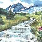mountain stream serenity by francelle  huffman
