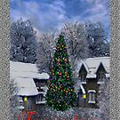 From Our House to Yours Christmas Card by Vickie Emms