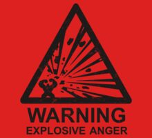 Warning: Explosive Anger Kids Clothes