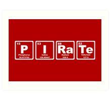 Pirate - Periodic Table Art Print