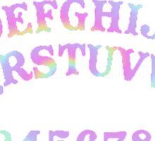 Rainbow Ouija Board Sticker