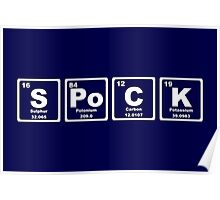 Spock - Periodic Table Poster