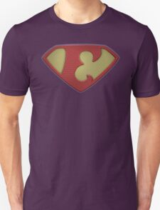 "The Letter E in the Style of ""Man of Steel"" T-Shirt"