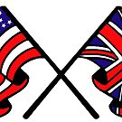 US & UK Crossed Flags by JustBritish