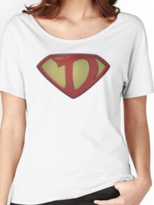 """The Letter D in the Style of """"Man of Steel"""" Women's Relaxed Fit T-Shirt"""