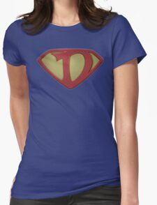 "The Letter D in the Style of ""Man of Steel"" Womens Fitted T-Shirt"