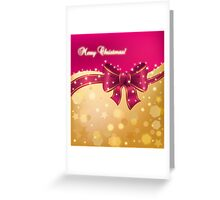Merry Christmas card with golden background and knot Greeting Card