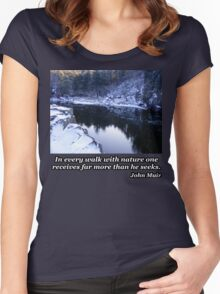 Reflection On The River In Winter Women's Fitted Scoop T-Shirt