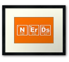 Nerds - Periodic Table Framed Print